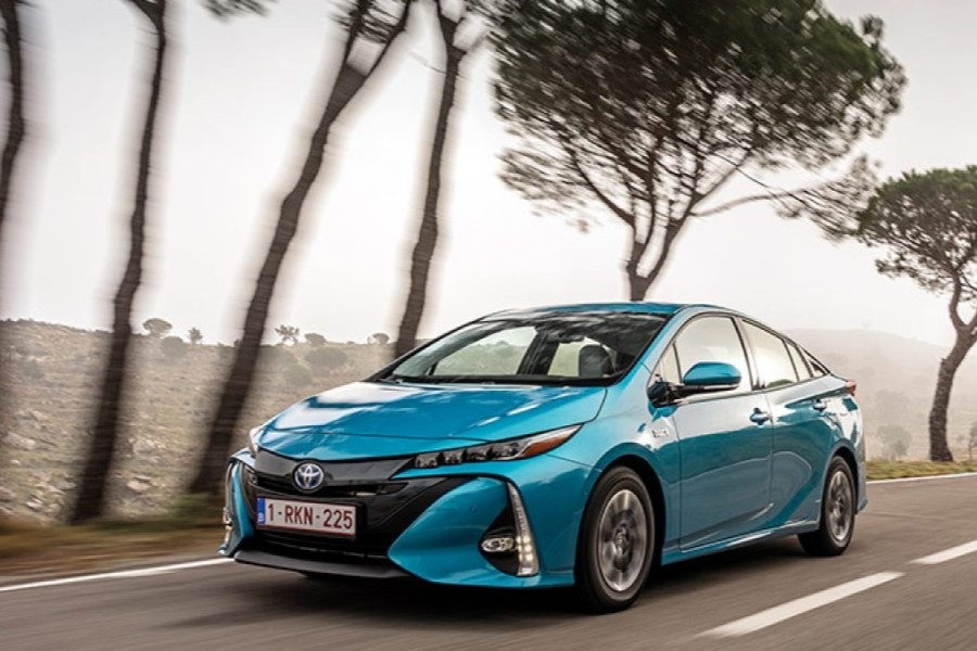 Toyota Prius Plug-in Híbrido Enchufable azul